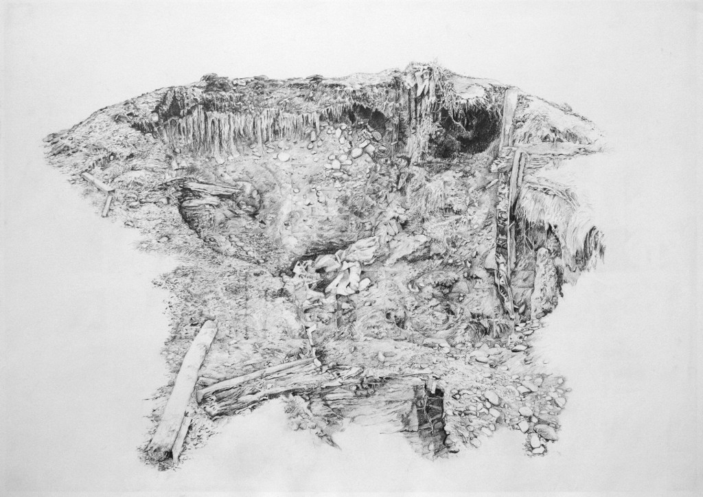 Dead Artist (We Love You Martin) 2009  Pencil on Paper  59 x 79cm