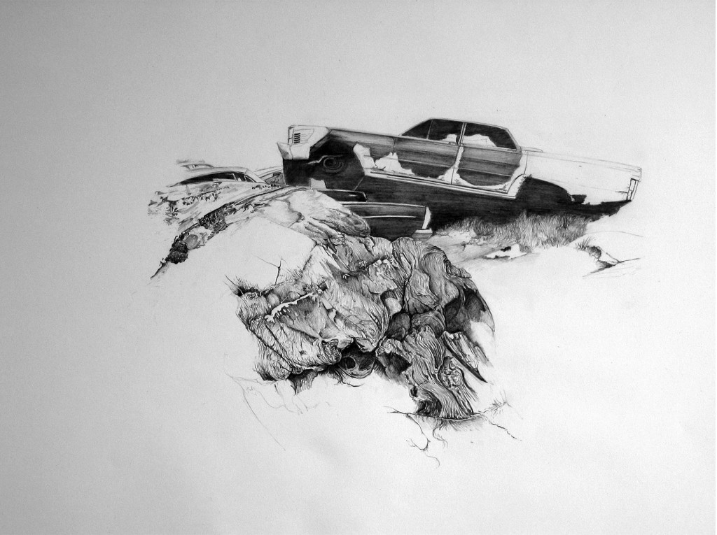 Grave (After Ruskin) 2006   Pencil on Paper  59 x 79cm