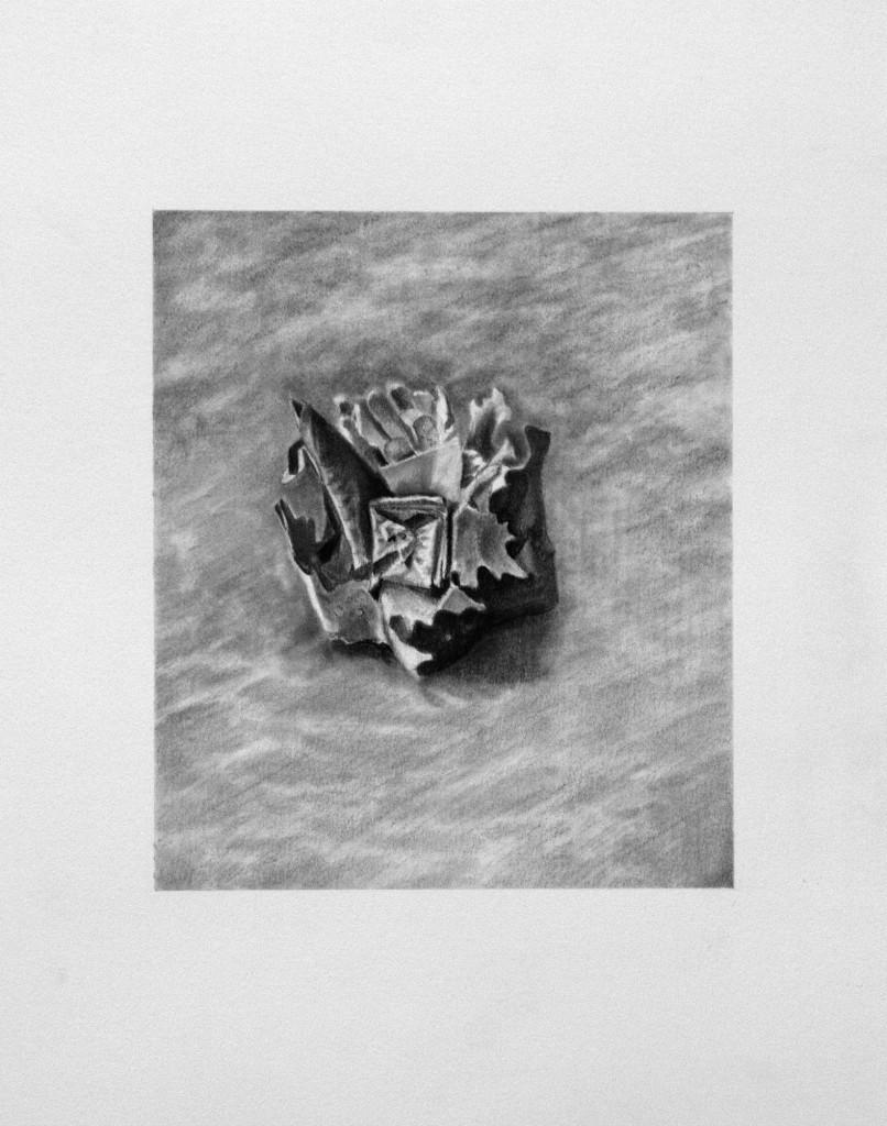 Relic 1 2008   Conte on Paper  45 x 41cm