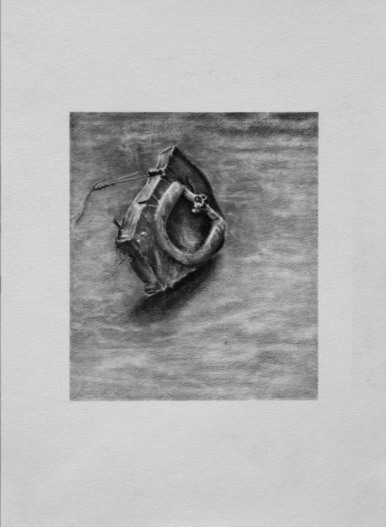 Relic II   2008 Conte on Paper  31 x 27cm